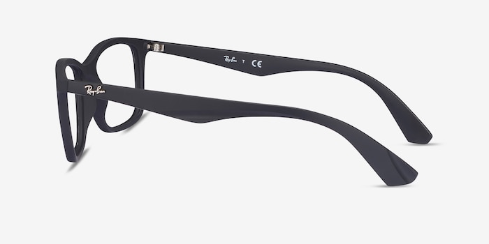 Ray-Ban RB7047 Black Plastic Eyeglass Frames from EyeBuyDirect, Side View
