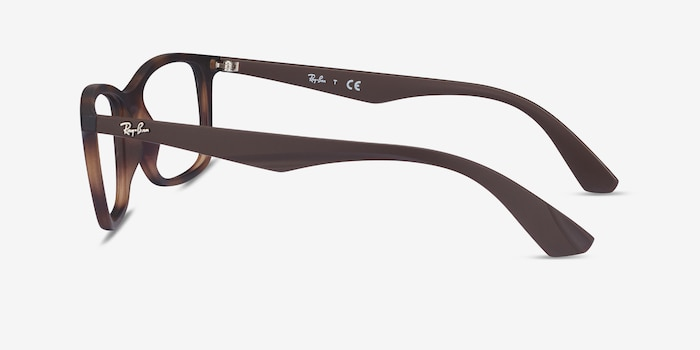 Ray-Ban RB7047 Tortoise Brown Plastic Eyeglass Frames from EyeBuyDirect, Side View