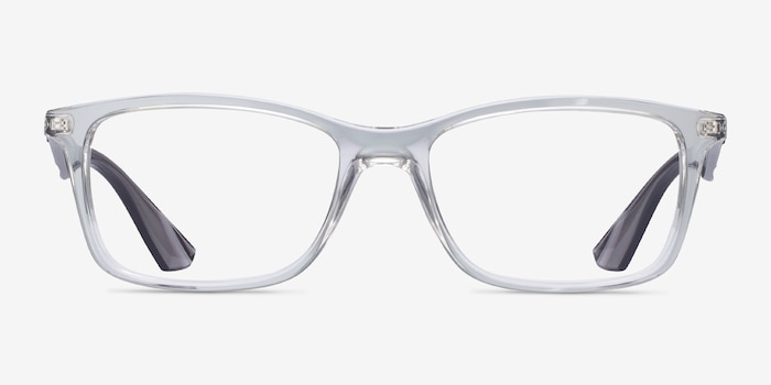 Ray-Ban RB7047 Clear & Gray Plastic Eyeglass Frames from EyeBuyDirect, Front View