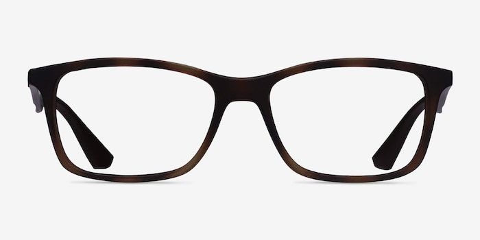 Ray-Ban RB7047 Tortoise Brown Plastic Eyeglass Frames from EyeBuyDirect, Front View