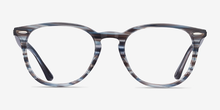 Ray-Ban RB7159 Blue Plastic Eyeglass Frames from EyeBuyDirect, Front View