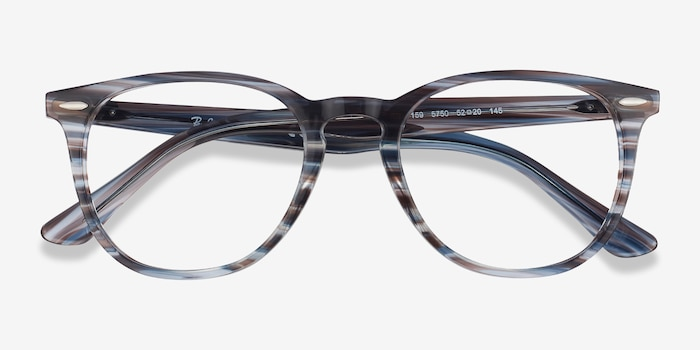 Ray-Ban RB7159 Blue Plastic Eyeglass Frames from EyeBuyDirect, Closed View