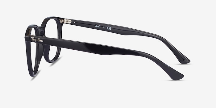 Ray-Ban RB7159 Black Plastic Eyeglass Frames from EyeBuyDirect, Side View