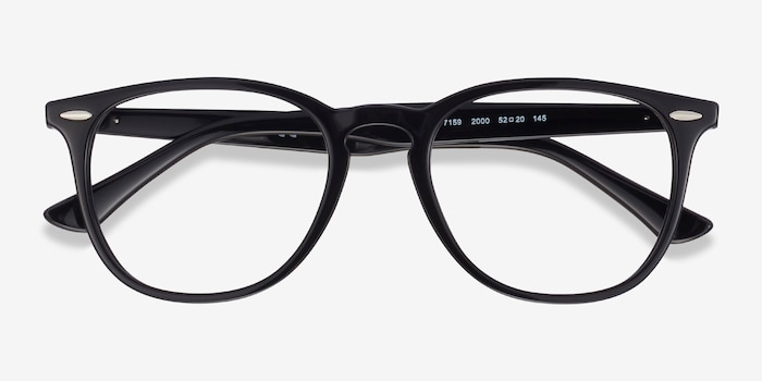 Ray-Ban RB7159 Black Plastic Eyeglass Frames from EyeBuyDirect, Closed View