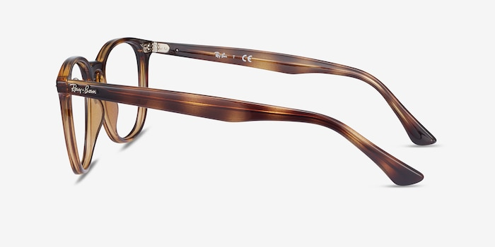 Ray-Ban RB7159 Tortoise Plastic Eyeglass Frames from EyeBuyDirect, Side View