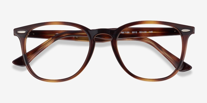 Ray-Ban RB7159 Tortoise Plastic Eyeglass Frames from EyeBuyDirect, Closed View