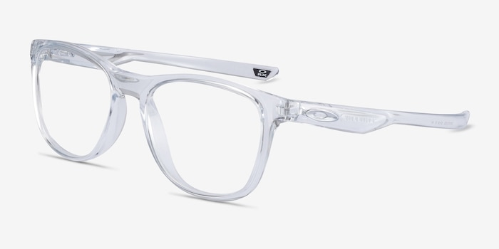 Oakley Trillbe X Clear Plastic Eyeglass Frames from EyeBuyDirect, Angle View