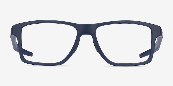 Oakley Chamfer Squared Universe Blue Plastic Eyeglass Frames from EyeBuyDirect, Front View
