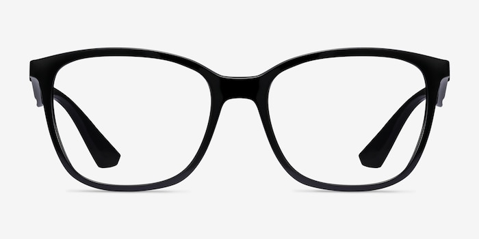Ray-Ban RB7066 Black Plastic Eyeglass Frames from EyeBuyDirect, Front View