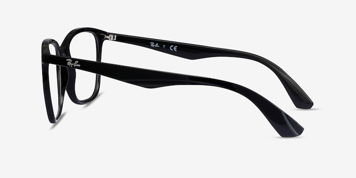 Ray-Ban RB7066 Black Plastic Eyeglass Frames from EyeBuyDirect, Side View
