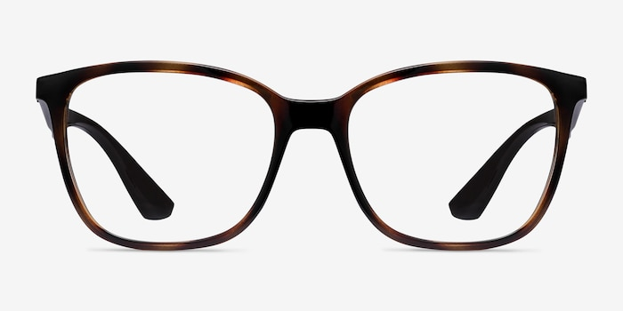 Ray-Ban RB7066 Tortoise Brown Plastic Eyeglass Frames from EyeBuyDirect, Front View
