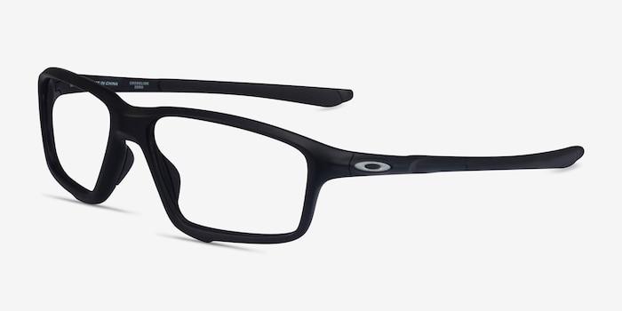 Oakley Crosslink Zero Satin Black Plastic Eyeglass Frames from EyeBuyDirect, Angle View