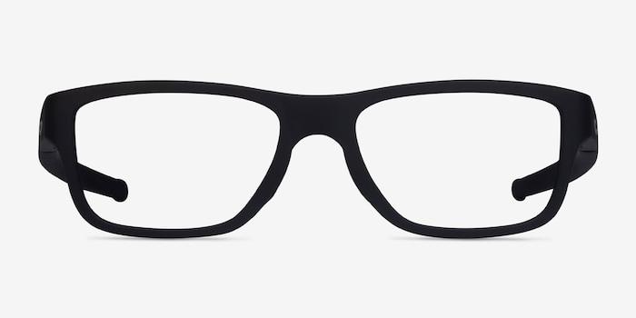 Oakley Marshal Mnp Satin Black Plastic Eyeglass Frames from EyeBuyDirect, Front View