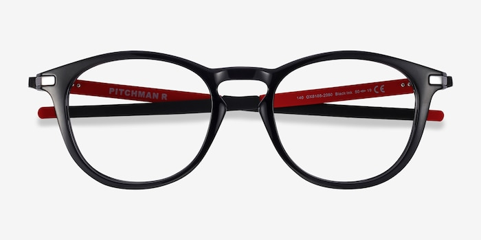 Oakley Pitchman R Black Ink Plastic Eyeglass Frames from EyeBuyDirect, Closed View