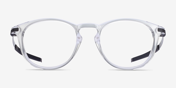 Oakley Pitchman R Clear Plastic Eyeglass Frames from EyeBuyDirect, Front View