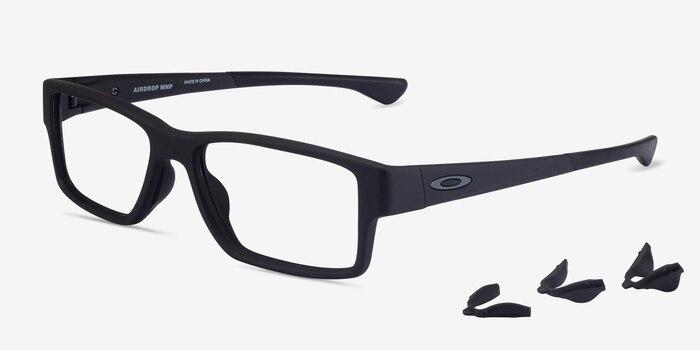 Oakley Airdrop Mnp Satin Black Plastic Eyeglass Frames from EyeBuyDirect, Angle View