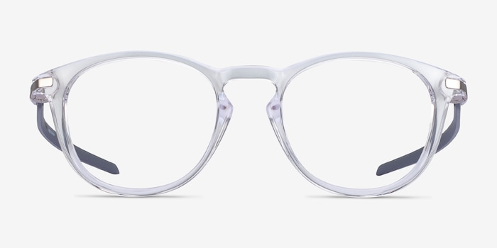 Oakley Pitchman R Carbon Clear Gray Plastic Eyeglass Frames from EyeBuyDirect, Front View