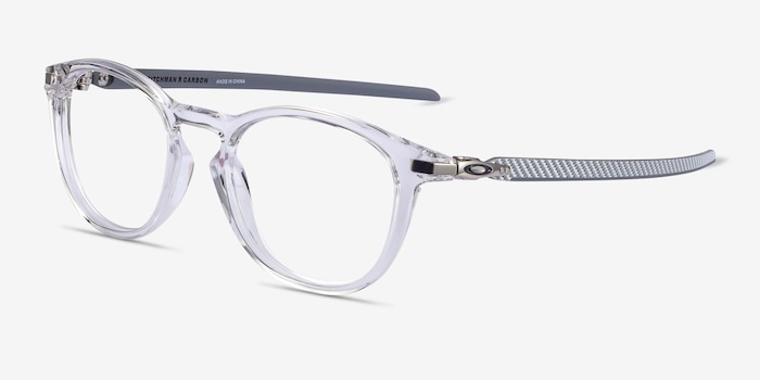 Oakley Pitchman R Carbon Clear Gray Plastic Eyeglass Frames from EyeBuyDirect, Angle View