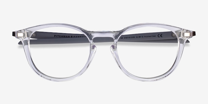 Oakley Pitchman R Carbon Clear Gray Plastic Eyeglass Frames from EyeBuyDirect, Closed View