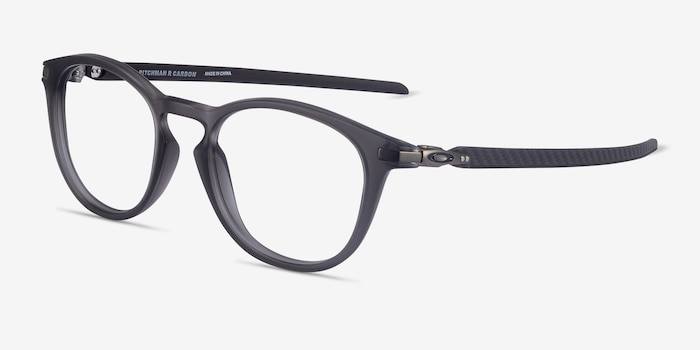 Oakley Pitchman R Carbon Satin Gray Plastic Eyeglass Frames from EyeBuyDirect, Angle View