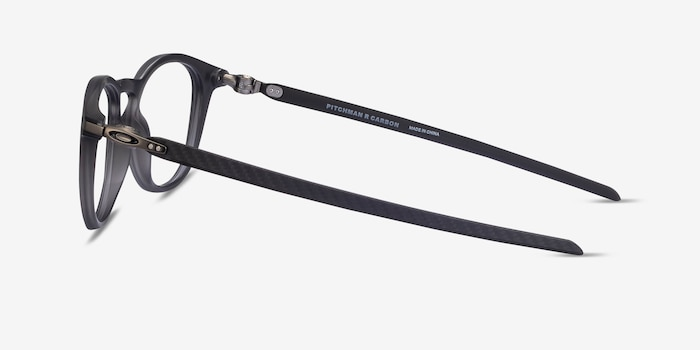 Oakley Pitchman R Carbon Satin Gray Plastic Eyeglass Frames from EyeBuyDirect, Side View