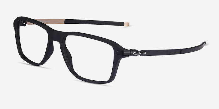 Oakley Wheel House Satin Black Plastic Eyeglass Frames from EyeBuyDirect, Angle View