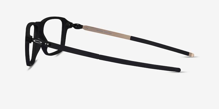 Oakley Wheel House Satin Black Plastic Eyeglass Frames from EyeBuyDirect, Side View