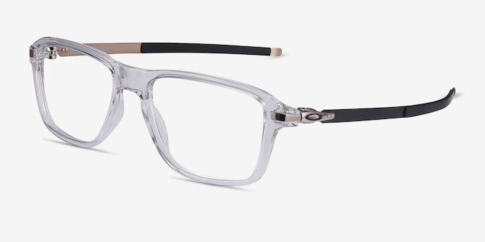 Oakley Wheel House Polished Clear Plastic Eyeglass Frames from EyeBuyDirect, Angle View