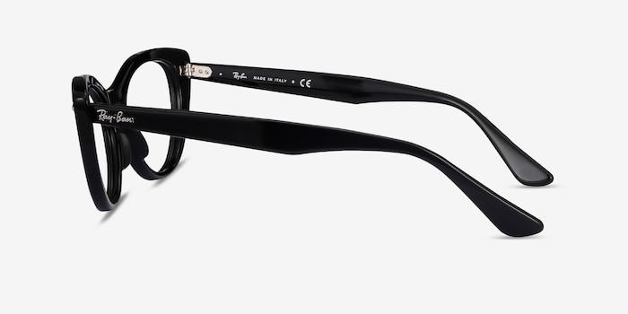 Ray-Ban Nina Black Acetate Eyeglass Frames from EyeBuyDirect, Side View