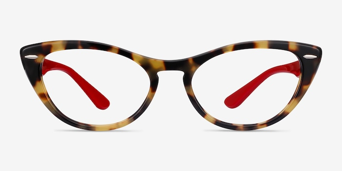 Ray-Ban Nina Tortoise Red Acetate Eyeglass Frames from EyeBuyDirect, Front View