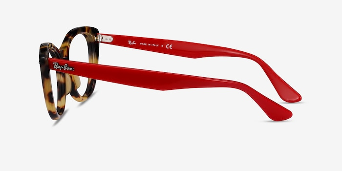 Ray-Ban Nina Tortoise Red Acetate Eyeglass Frames from EyeBuyDirect, Side View