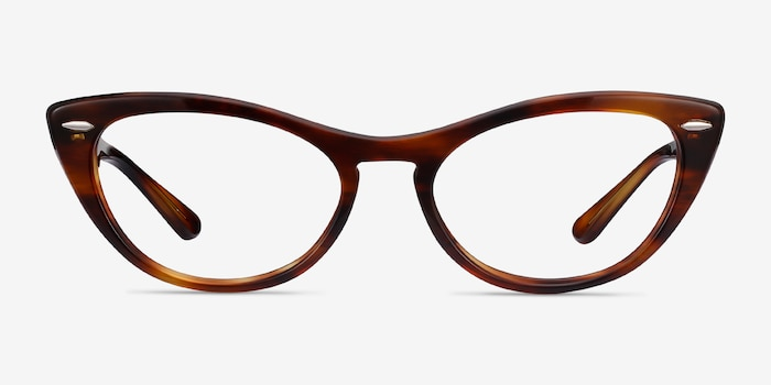 Ray-Ban Nina Tortoise Acetate Eyeglass Frames from EyeBuyDirect, Front View