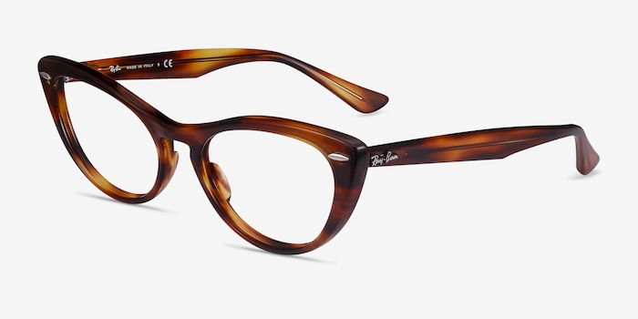 Ray-Ban Nina Tortoise Acetate Eyeglass Frames from EyeBuyDirect, Angle View