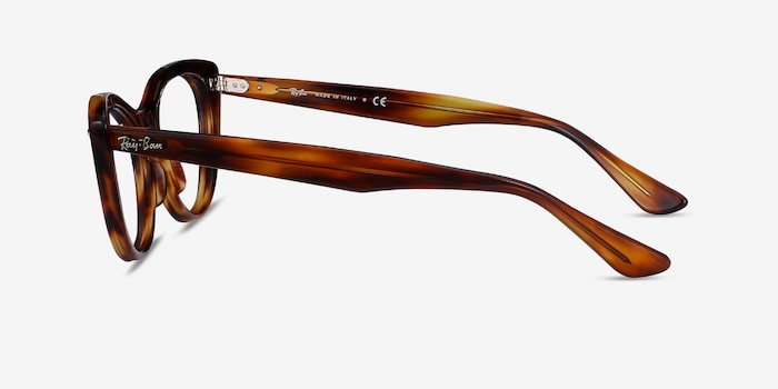 Ray-Ban Nina Tortoise Acetate Eyeglass Frames from EyeBuyDirect, Side View