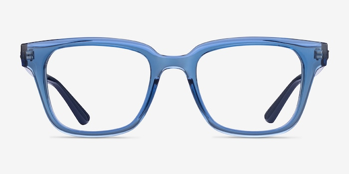 Ray-Ban RB4323V Clear Blue Plastic Eyeglass Frames from EyeBuyDirect, Front View