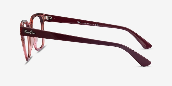Ray-Ban RB4323V Clear Pink Plastic Eyeglass Frames from EyeBuyDirect, Side View