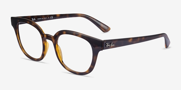 Ray-Ban RB4324V Tortoise Plastic Eyeglass Frames from EyeBuyDirect, Angle View