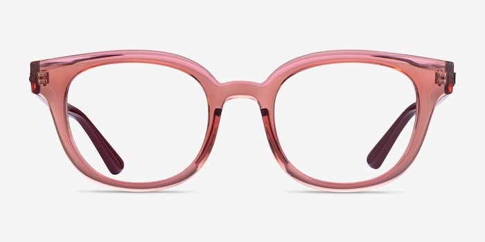 Ray-Ban RB4324V Clear Pink Plastic Eyeglass Frames from EyeBuyDirect, Front View