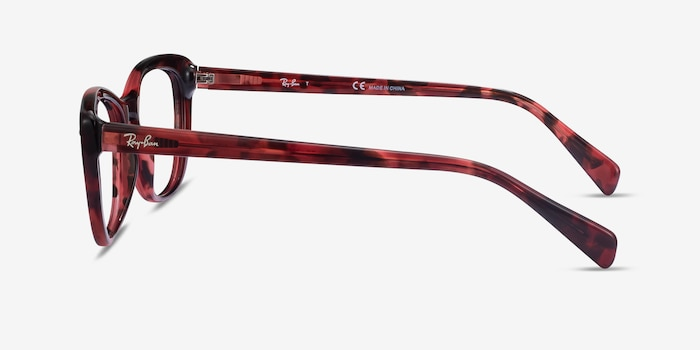 Ray-Ban RB5366 Pink Tortoise Acetate Eyeglass Frames from EyeBuyDirect, Side View
