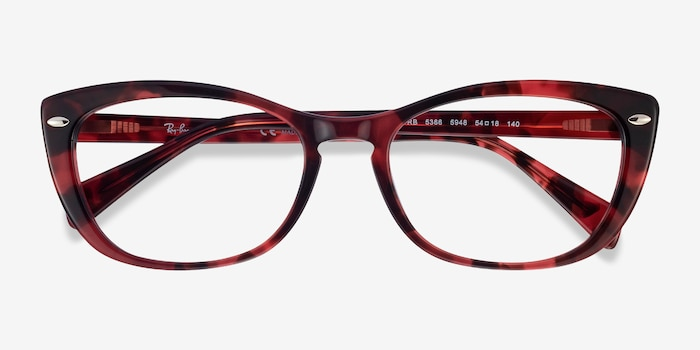 Ray-Ban RB5366 Pink Tortoise Acetate Eyeglass Frames from EyeBuyDirect, Closed View
