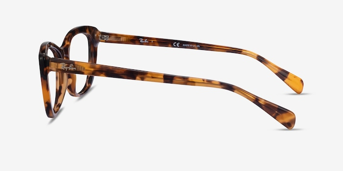 Ray-Ban RB5366 Tortoise Acetate Eyeglass Frames from EyeBuyDirect, Side View