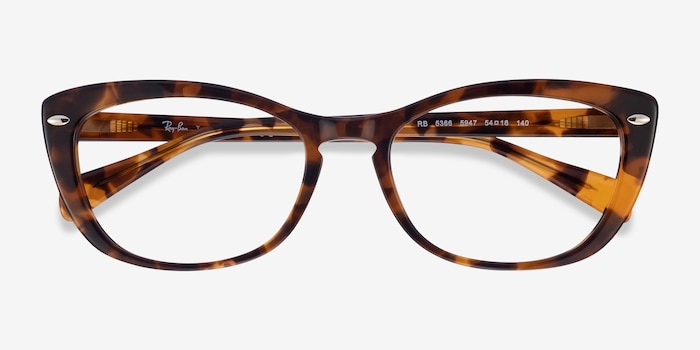 Ray-Ban RB5366 Tortoise Acetate Eyeglass Frames from EyeBuyDirect, Closed View