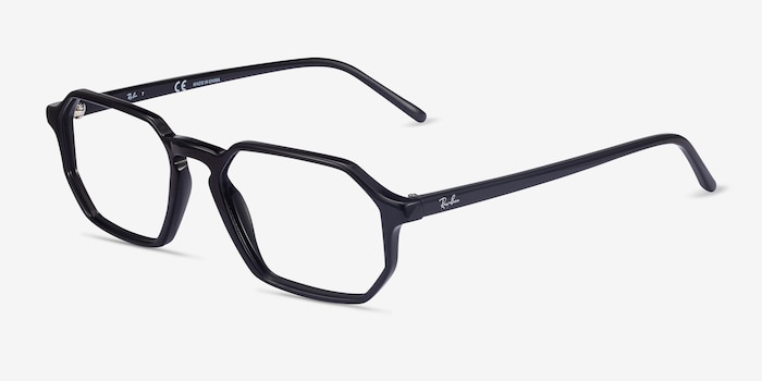 Ray-Ban RB5370 Black Acetate Eyeglass Frames from EyeBuyDirect, Angle View