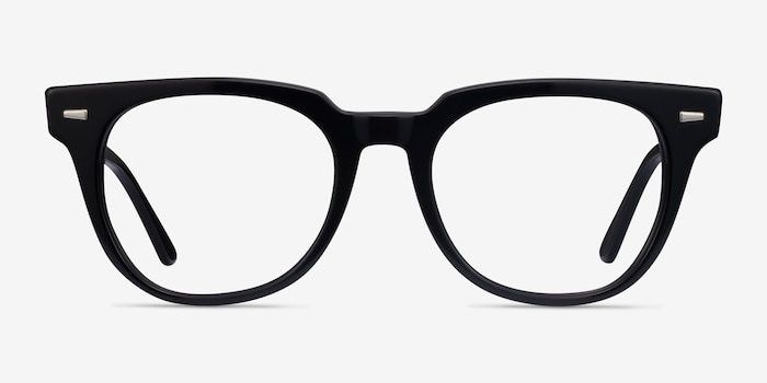 Ray-Ban Meteor Black Acetate Eyeglass Frames from EyeBuyDirect, Front View