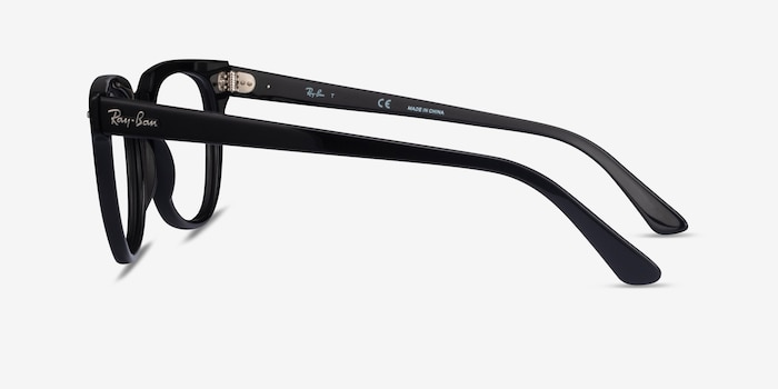 Ray-Ban Meteor Black Acetate Eyeglass Frames from EyeBuyDirect, Side View