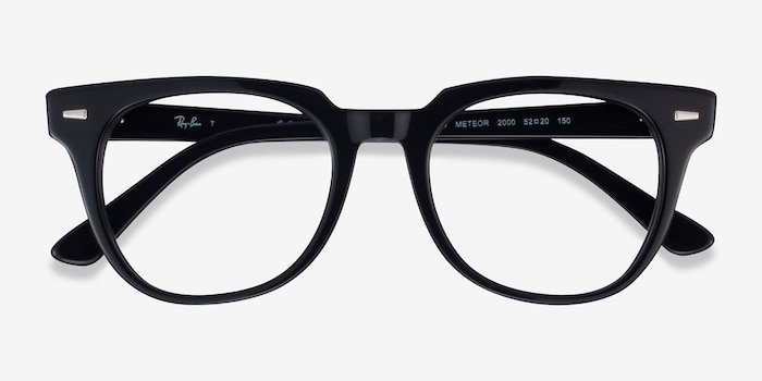 Ray-Ban Meteor Black Acetate Eyeglass Frames from EyeBuyDirect, Closed View