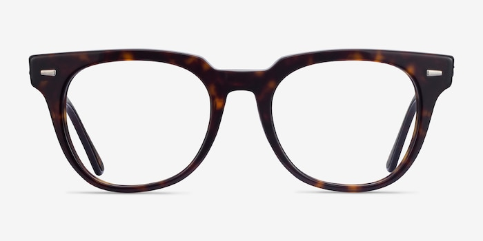Ray-Ban Meteor Tortoise Acetate Eyeglass Frames from EyeBuyDirect, Front View