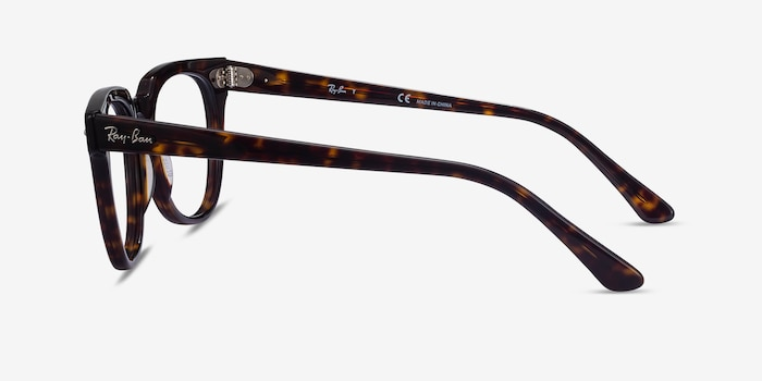 Ray-Ban Meteor Tortoise Acetate Eyeglass Frames from EyeBuyDirect, Side View