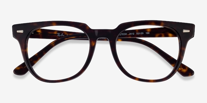 Ray-Ban Meteor Tortoise Acetate Eyeglass Frames from EyeBuyDirect, Closed View