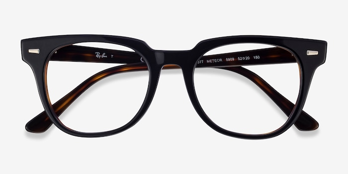 Ray-Ban Meteor Black Tortoise Acetate Eyeglass Frames from EyeBuyDirect, Closed View